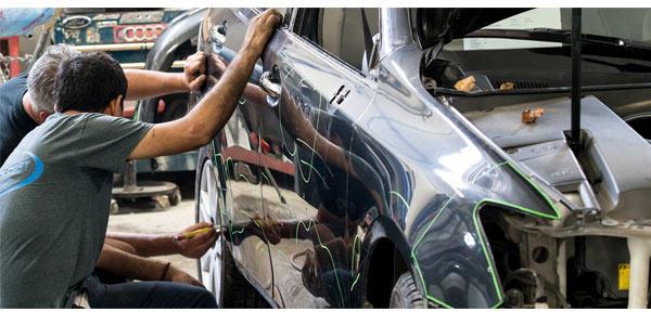 кузовной ремонт - начало работ